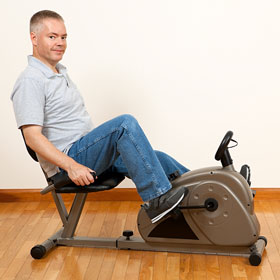 exercising at home
