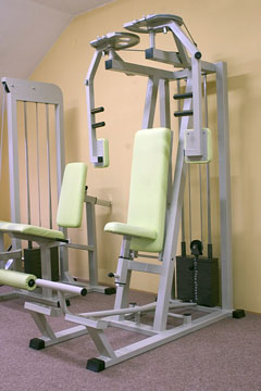 multi-station gyms in a home exercise room